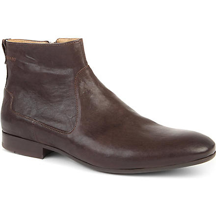 H BY HUDSON Fabien leather boots (Brown