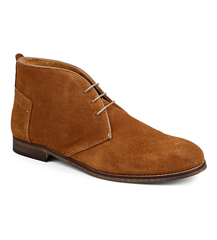 H BY HUDSON Vasa suede chukka boots (Tan