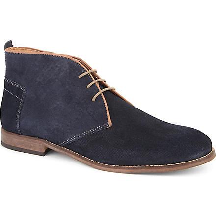 H BY HUDSON Vasa chukka boots (Navy