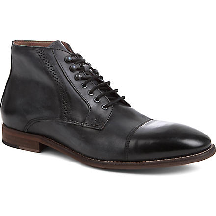 KG KURT GEIGER Pirlo leather boots (Black
