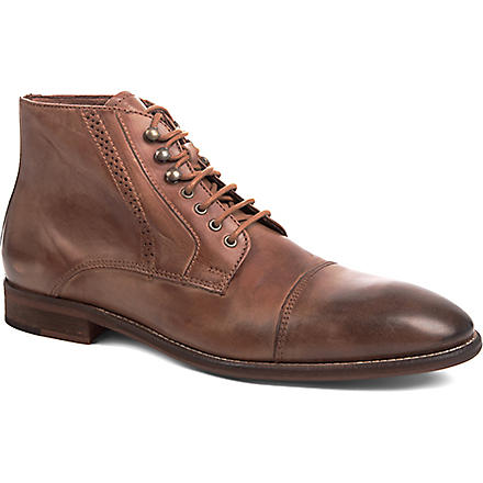 KG KURT GEIGER Pirlo leather boots (Tan