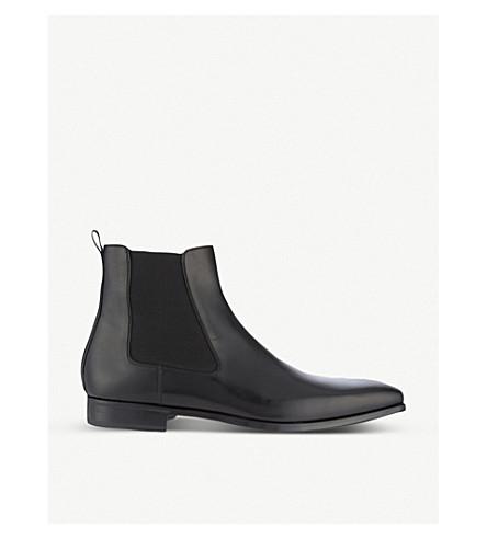 MAGNANNI 皮革切尔西靴 (黑色