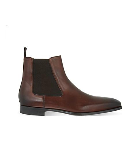 MAGNANNI 皮革切尔西靴子 (布朗