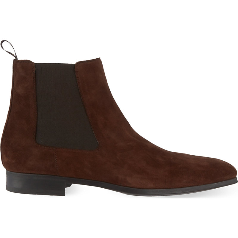 MAGNANNI | Suede Chelsea Boots | Goxip