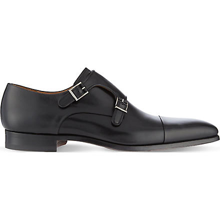 MAGNANNI Double monk shoes (Black