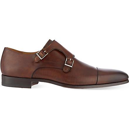 MAGNANNI Double monk shoes (Brown