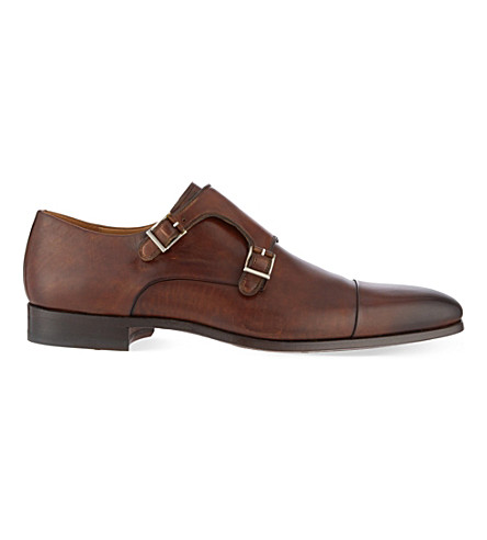 MAGNANNI Double monk shoes (Brown
