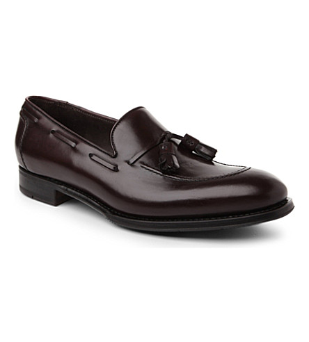 PAUL SMITH Graham tasseled loafers (Wine