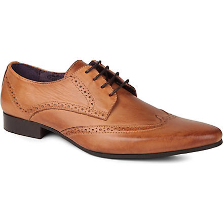 KG KURT GEIGER Jake leather brogue shoes (Tan