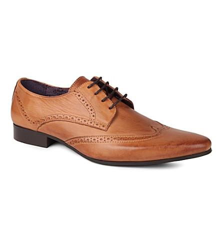 KG KURT GEIGER Jake leather brogue shoes (Tan