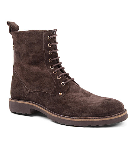 KG KURT GEIGER Dench suede boots (Brown