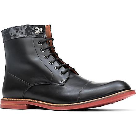 BESPOKEN Richmond contrast-sole boots (Black