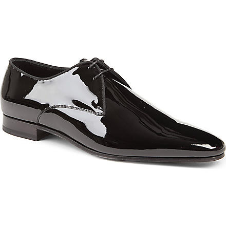 SAINT LAURENT Patent Derby shoes (Black