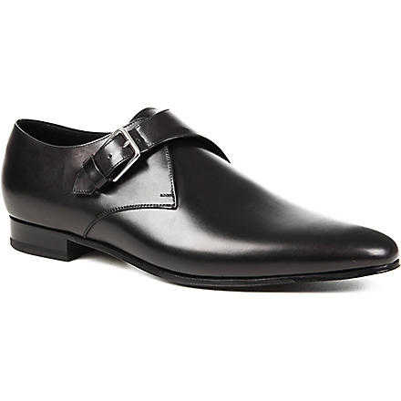 SAINT LAURENT Blake monk shoes (Black