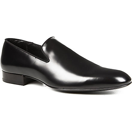 SAINT LAURENT Leather slippers (Black