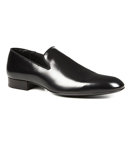 SAINT LAURENT Leather slippers (Black