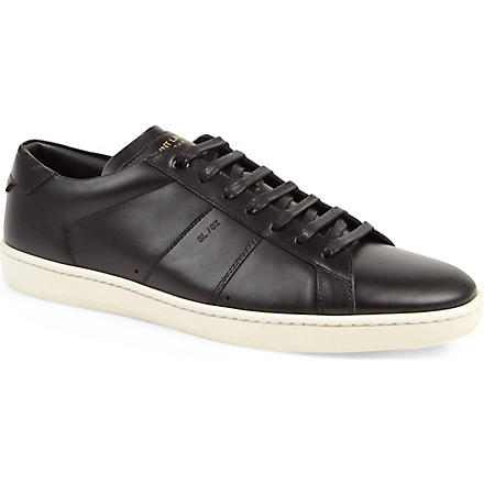 SAINT LAURENT Stripe lo trainers (Black