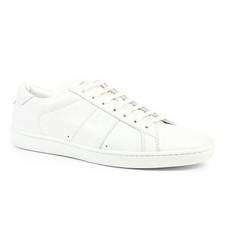 SAINT LAURENT Stripe lo trainers (White