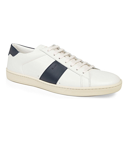 SAINT LAURENT Stripe lo trainers (White/navy