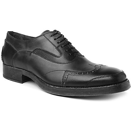 ALEXANDER MCQUEEN Wingcap Oxfords (Blk/grey