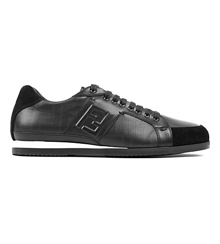 FENDI New Softy logo trainers (Black
