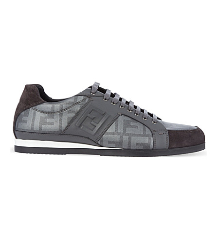 FENDI Logo trainers (Grey
