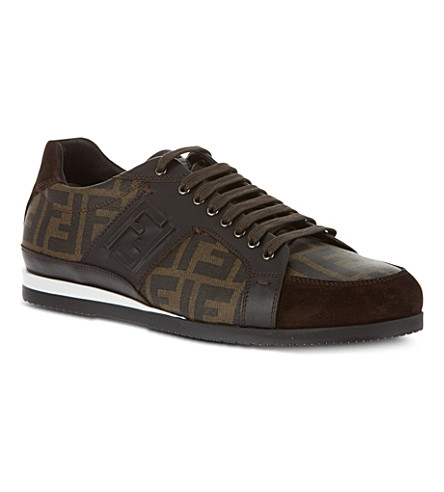 FENDI Logo trainers (Brown