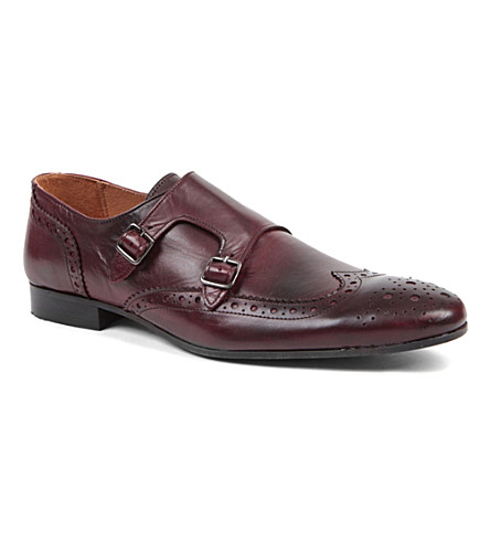KG KURT GEIGER Utah monk strap shoes (Red