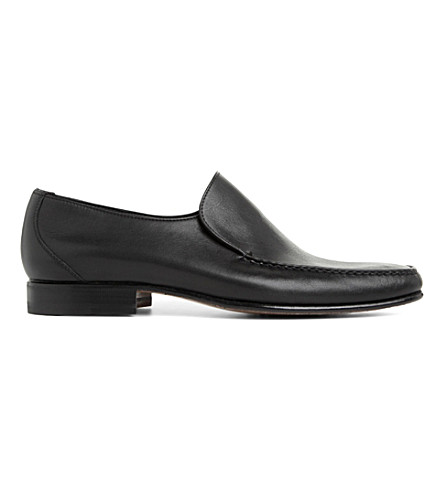 STEMAR Plain softy loafers (Black