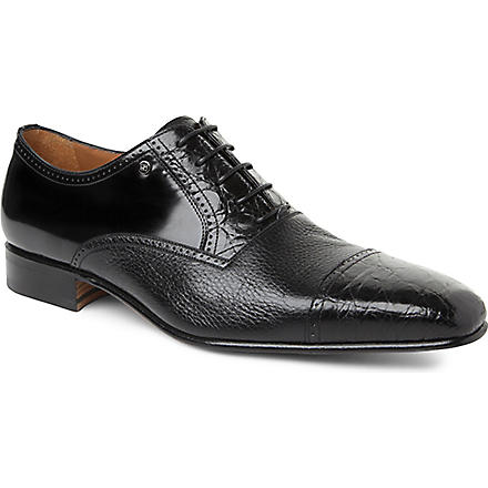 STEMAR Croc Oxford shoes (Black