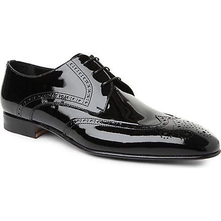STEMAR Patent wingcap Derby shoes (Black