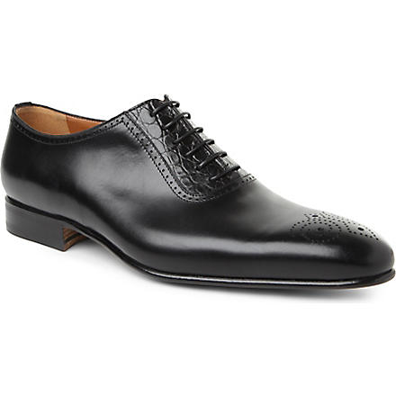 STEMAR Croc detail Oxford shoes (Black