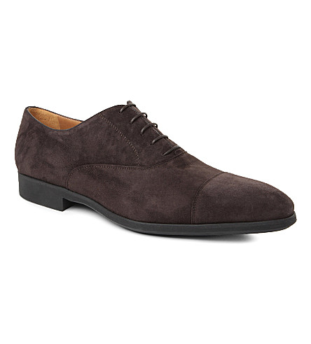 STEMAR Suede Oxford shoes (Dark+brown