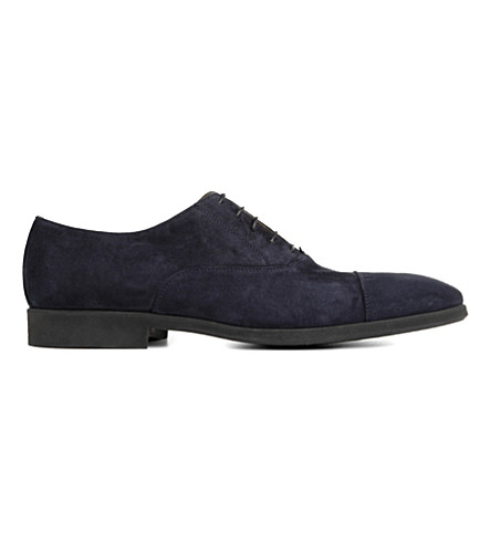 STEMAR Suede Oxford shoes (Navy
