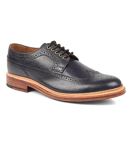 GRENSON Sid Derby shoes (Navy