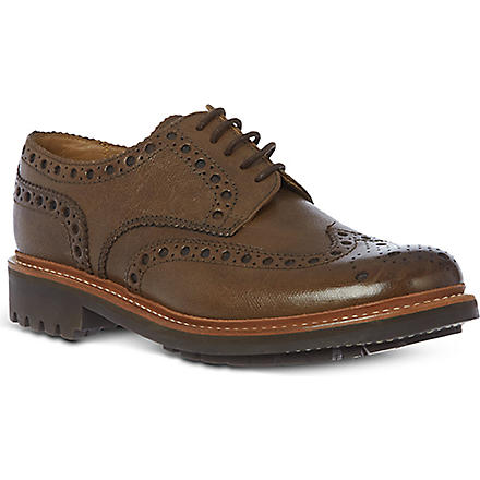 GRENSON Archie classic leather brogues (Brown