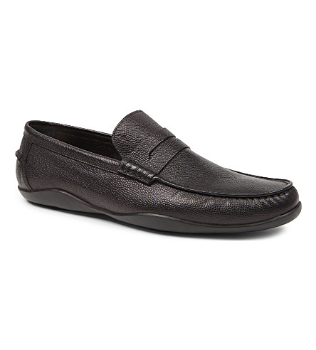 HARRYS OF LONDON Basil scotch penny loafers (Black