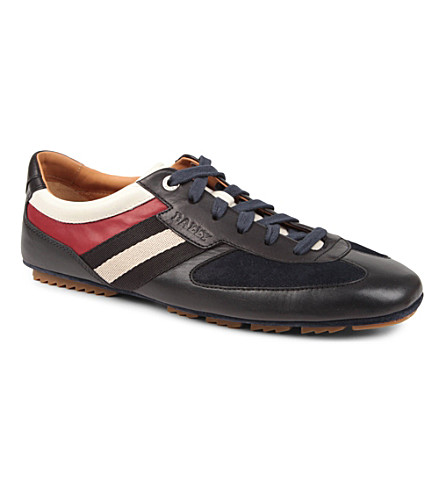 BALLY Iuvens leather trainers (Navy