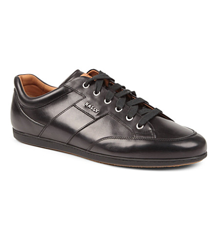 BALLY Ulmo leather trainers (Black