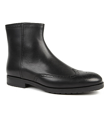 BALLY Rocer zip boots (Black