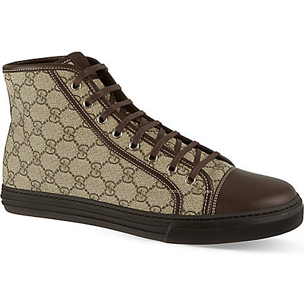 GUCCI California hi tops (Brown
