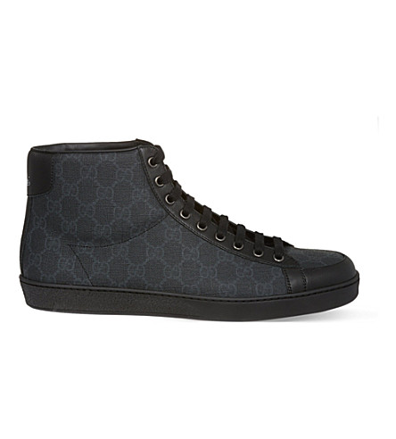 GUCCI Brooklyn GG hi-top sneakers (Grey