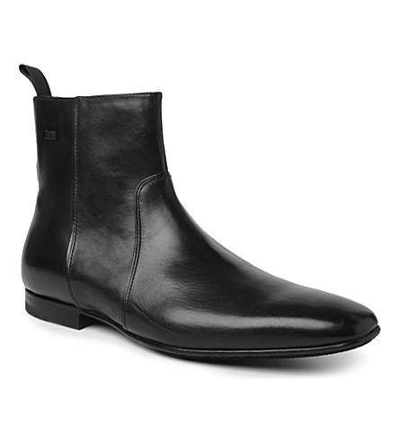 HUGO BOSS Hannor zip boots (Black
