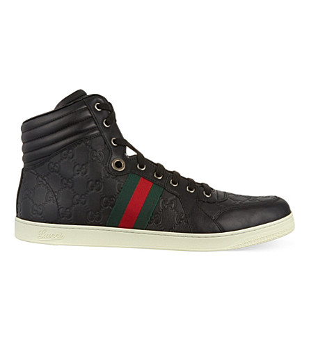GUCCI Coda monogram hi top trainers (Black