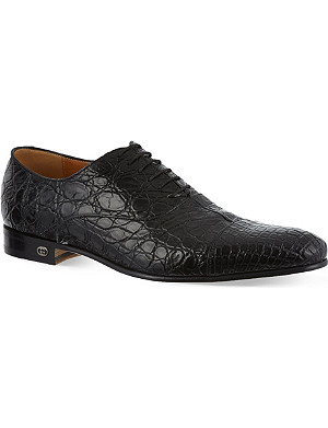 GUCCI Farramir crocodile Oxford shoes