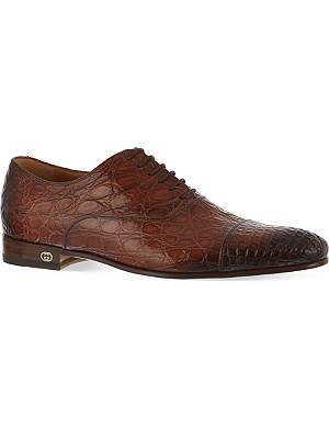 GUCCI Farramir crocodile Oxford shoes