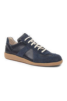 MAISON MARTIN MARGIELA Replica leather and suede-panelled trainers