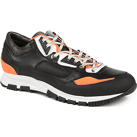 LANVIN Colourblocked running trainers (Blk/other