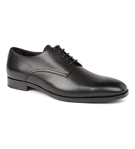 ERMENEGILDO ZEGNA Leather Derby shoes (Black
