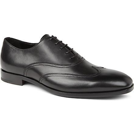 ERMENEGILDO ZEGNA Wing cap Oxford shoes (Black